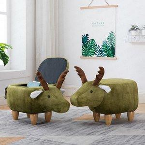 chaussures de changement en bois massif cerf bas de stockage tabouret de chaussures de changement animal canapé création de test petit banc