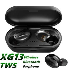 XG-13 Bluetooth 5.0 Auricular Mini Auriculares inalámbricos XG13 Deportes Manos libres Earbudos impermeables Earbudos Estéreo Doble Auriculares con caja de carga MQ20