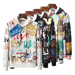 marca diseñadores sudadera con capucha logotipo de la letra patrón de salto de la cadera 2020 de los hombres sudadera con capucha suéter de invierno jersey de los hombres casuales