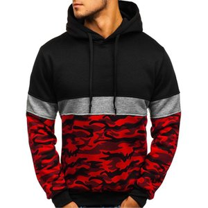 Men Camouflage Button Pullover Long Sleeve Hooded Sweatshirt Tops Blouse camisa masculina red dead redemption windbreaker