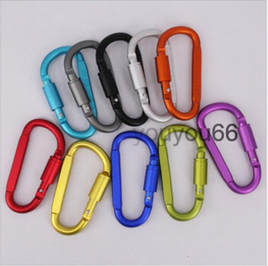 Aluminum Alloy Metal D Style With Screw Lock Carabiner Strong Clip Hook Hanger for Climbing Outdoor Sports Camping Hiking Antislip