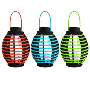 3 jogos / lote Waterproof Hanging Outdoor Solar Powered luzes lâmpadas LED com uma bateria Ni-MH carregada pela luz solar