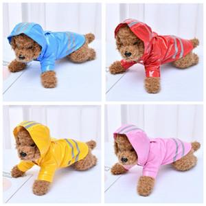 ملابس الكلاب الأليفة المعطف الواقي من المطر العاكس معطف الجرو المطري المسترد في الهواء الطلق ملابس الحيوانات الأليفة معطف واقي 5 لون ZYQ464