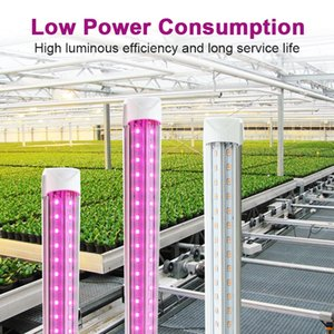 LED Grow Light, Full Spectrum, High Output, Linkable Design, T8 Integrate plug and play for Indoor Plants,2ft-8ft v shape tube