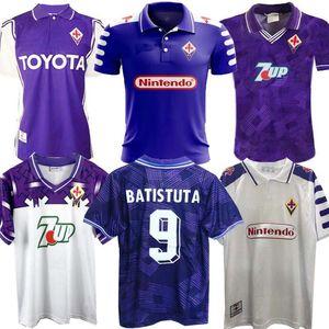 1998 1999 Retro Fiorentina Vintage Soccer Jersey Batistuta RUI COSTA personalizada 98 99 Início Football Shirt 2000 Camisas de Futebol 92 93