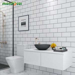 Plastik Peel ve Sopa Duvar Kağıtları Ev Dekor Banyo Mutfak PVC Mozaik Kendinden Yapışkanlı Duvar Kağıdı Su Geçirmez Karo Çıkartmalar