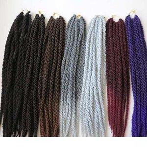 C 120g 22inch 3D cúbico torcedura del pelo sintético trenzado trenzas de ganchillo Habana Mambo senegalés Torsión extensiones de cabello más colores