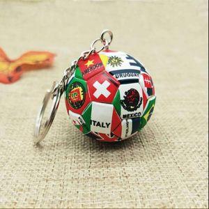 새로운 세계 플래그 축구 키 체인 국가 축구 팬 열쇠 고리 열쇠 고리 기념품 가방 펜던트 액세서리 선물