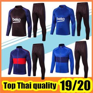 2019/20 espanha jaqueta de barcelona agasalho Azul Jaqueta 19 20 barcelona top quality manga comprida calças de jaqueta de futebol kit