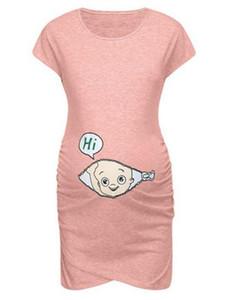 Bébé Imprimer Womens Robes Casual Mode lâche taille irrégulière Hem femmes Designer Robes de maternité