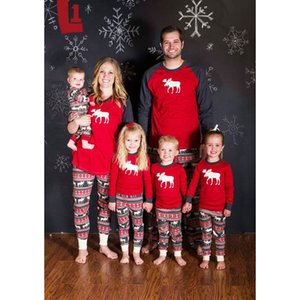 Família Natal pijama conjunto quente adulto miúdos meninas menino mamãe sleepwear noite mãe filha roupas combinando roupas familiares por espero12