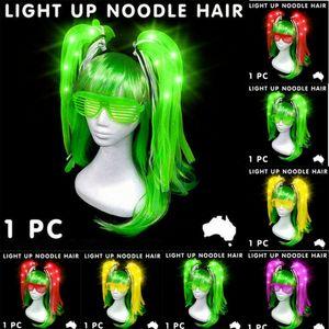 1PC LED coloré perruques Glowing flash cheveux Braid clip Hairpin Décoration Ligth Nouvel An Voir Up Party Supplies Noël Hollween