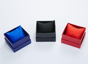 هدية مربع من الورق المقوى الحال بالنسبة الإسورة مجوهرات أقراط الطوق ووتش المعصم تخزين المجوهرات هدية مربع سات كوتسو مربع لمشاهدة