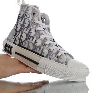 Hava Dior Converse Oblique B23 B24 AJ1 Hommes Eğik KAWS Kim Jones Kanye Sneakers Yüksek Üst Sepet Chaussure Moda Tuval Ayakkabı Üçlü Basketbol Ayakkabı