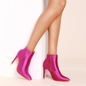L'autunno e l'inverno stivali da donna nuova rosa bel colore rosso con il commercio estero ha indicato i pattini stivali da donna