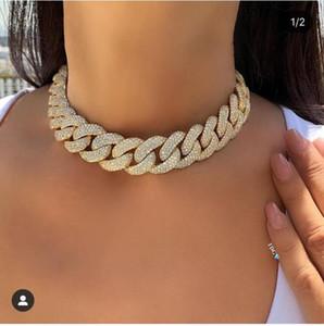 Accking Voll CZ Statement Cuban Link Kette Halskette justieren für einen Mann oder eine Frau Bijoux Großhandel freies Verschiffen