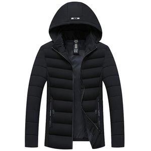 FeiTong Chaqueta Parka Hombres Abrigo Ropa de invierno Para Hombre Otoño Chaqueta Abrigo Outwear Delgado Largo Trench Zipper Coat Hombre 2018 Parkas