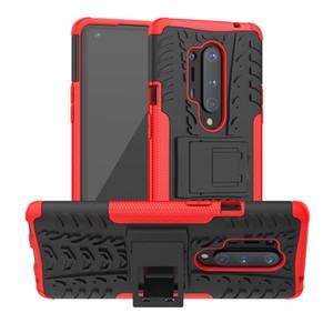 À prova de choque Silicone Kickstand Phone Case Armor for OnePlus 8 Pro 7 7T 6 Pro tampa traseira