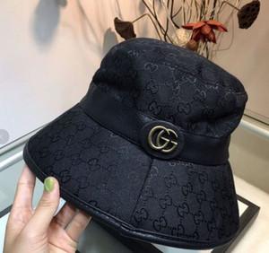 Luxus NY Eimer Hüte Hochwertige faltbare Hüte schwarz Fischer Strand Verkauf gefaltet Herren-Frau casquette Schüssel mit dem Originaletikett
