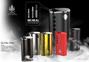 100% Original LVSmoke Elfin Box Pro Mod 650mAh Préchauffez VV variable de tension de batterie pour huile épaisse 510 Cartouche authentique