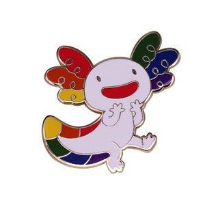 Colorful axolotl pin perfect for anyone who loves the coolest sea animal