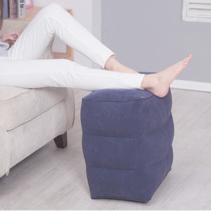 3 Layers Inflatable Portable Travel Footrest Pillow Plane Portable Travel Yoga Foot Pad Adjustable Air Cushion Rest Pillow