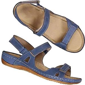 Womens gladiatore sandali piani della cinghia della caviglia doppia fibbia Thong Estate Mayari sandalo gladiatore sandalo Clip-scarpe a punta