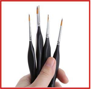 2019 6 PC / pluma de dibujo del arte del cepillo de pintura fina pintado a mano Hook Line fino Art Pen Suministros cepillo de nylon pluma de la pintura
