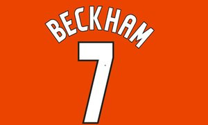Man 1997 2002 BECKHAM #7 SCHOLES#18 UCL Print Name Number Set Jersey patch wholesale patch Can be customized