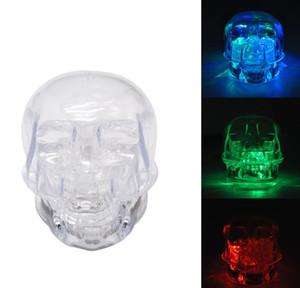Refroidir Crâne acrylique Grinder avec RGB LED 54MM 2 pièces 3 couleurs claires en plastique tabac abrasimètre Crusher tuyaux main adapter à la nuit