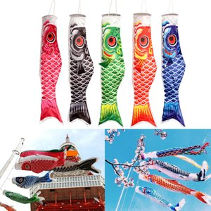 5 шт Mix 70см Красочные японский стиль Карп Ветроуказатель Streamer Рыба Флаг Змеев Оптовая Koinobori Главная Декорации для вечеринок