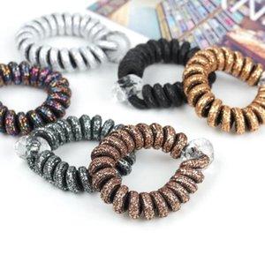 9 Stili Telefono Wire Wire Hair Tie Ragazze Elastico Fascia per capelli Anello Corda Elastico Braccialetto Elastico Cordicelle per capelli Scrunchy GGA2330