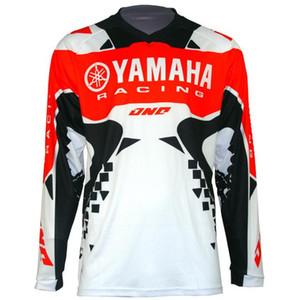 el más barato Nueva Moto del motocrós de la transpiración YAMAHA maillot de la montaña Honda Motocross Jersey DH MTB BMX para YAMAHA T Shirt