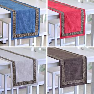 Patrones exquisito bordado Camino de mesa geométricas Home Stay Decoración té de Mesa Inicio Luxcy Zapatos Toalla Gabinete cubierta de tela