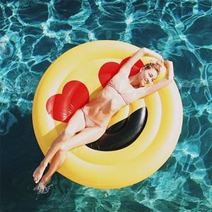 anillo de la natación inflable grande inflable flotante fila piscina de los niños juguete flotante expresión juguete de agua para adultos