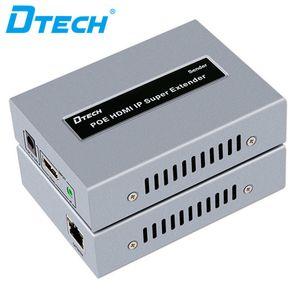 enchufe de control remoto IR elemento caliente y reproducir vídeo receptor emisor extensor lan cable de HD 1080P HDMI 120m IP POE