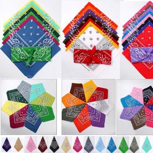 Pañuelos surtidos 53 * 53 CM 100% Algodón Novedad Impresión a doble cara Pañuelo de Paisley Vaquero Pañuelo de fiesta Bufanda Pañuelos