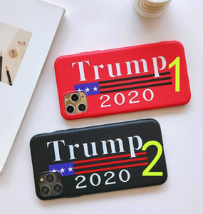 Donald Trump 2020 Phone Case TPU Tempered Glass Phone Cover Anti-fall Phone Cases Vote President Cellphone Case Cartoon Accessories GGA3455