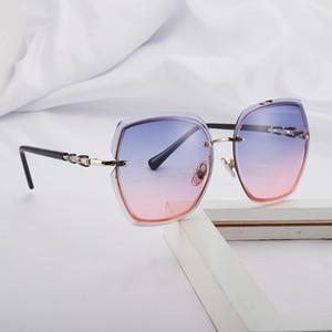 Rimless Sonnenbrille-Frauen 2020 Trend Fashion Sonnenbrille Frauen Frameless Trimming Glas UV400 weibliche Brille heißen Verkaufs