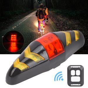 Entrega rápida de bicicleta sinal de volta Luz remoto sem fio Mountain Bike Taillight piscando farol Mountain Bike Ciclismo Luzes