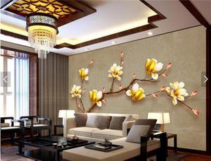 Заказ Магнолия Denudata стены Фото фрески 3D обои для гостиной Спальня Декор стен обои цветок обои ролл