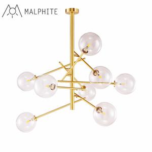 Designer Magia Feijão bolha LED Candelabro Lighting Living Room Chandelier Lamp Nordic Glass Restaurant lâmpadas penduradas Luminárias