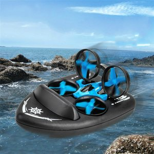 Upgraded H36 H36F Terzetto 1 20 2.4G 3 In 1 Blue RC Vehicle Flying Drone Land Driving Boat Quadcopter RTR Model VS E016F 008