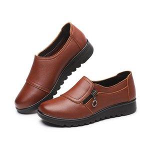 Printemps et à l'automne nouveau vieux sauvage occasionnel mère d'âge moyen unique chaussures chaussures pour femmes