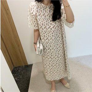 Abbigliamento Acquisti Primavera / Estate 2020 di personalità della Corea del Sud Dongdaemun Donne Texture design elegante abito Gentle