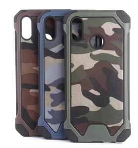 S10 Case 2in1 гибридный камуфляж пластиковый Военный для Iphone 11 Pro XS MAX XR X 8 7 5 6 Galaxy S10e S9 жесткий ПК + TPU+Броневой слой