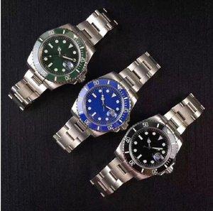 relógio dos homens de safira à prova de água painel de cerâmica mecânico automático todo em aço inoxidável deslizando da bracelete relógios clássicos
