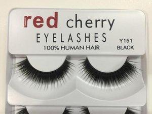 Pestañas Falsas Cerezas rojas 5 pares / paquete 8 Estilos Pestañas de Visón 3D Pestañas A11 Naturales Maquillaje profesional largo natural Ojos grandes Dropshipping