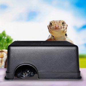 Змея принадлежности Сороконожка Reptile Box Скрытие чехол Hole воды Фидер паук Черепаха 2019 Reptile Supplies