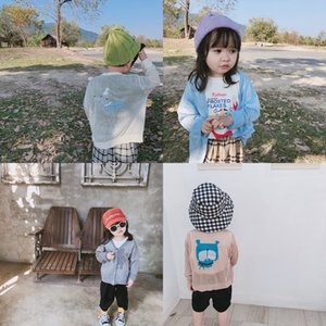 2020 summer children rashguard boy cartoon knitted jacket shirt cardigan girls ice silk mian airable shirt light jacket